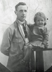 My Dad with my sister Pat in 1915