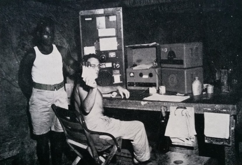 The Radio Base Station at Guadalcanal. Photo: Eric Feldt 'The Coastwatchers'.