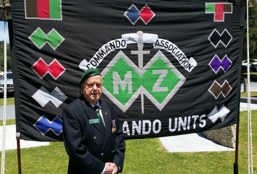 Still a commando! Me in front of the Australian Commando Association banner at the Tidal River commemoration on 20 Nov 2016